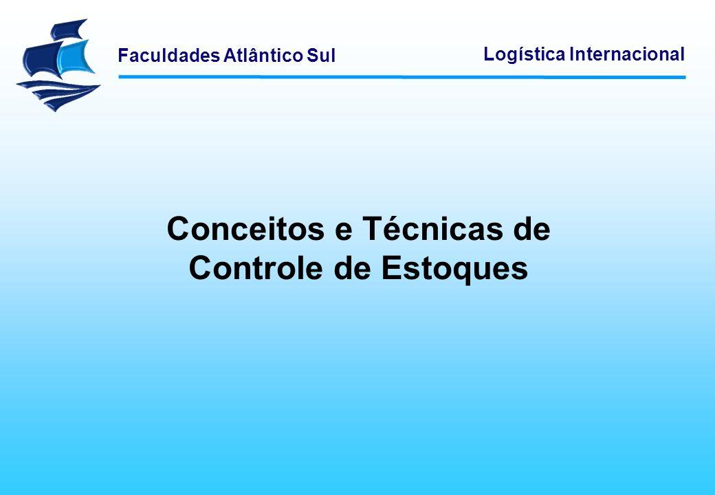 Conceitos e Técnicas de Controle de Estoques