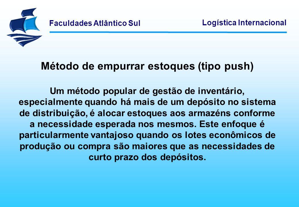 Método de empurrar estoques (tipo push)