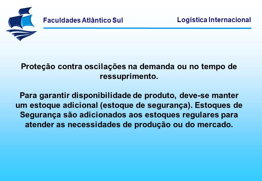 Proteção contra oscilações na demanda ou no tempo de ressuprimento.