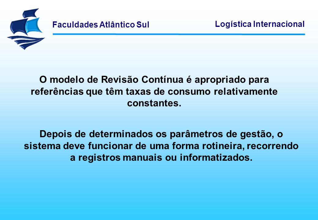 O modelo de Revisão Contínua é apropriado para referências que têm taxas de consumo relativamente constantes.