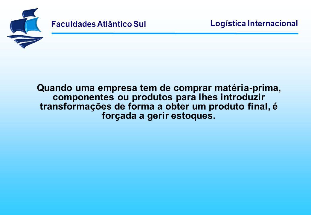 Quando uma empresa tem de comprar matéria-prima, componentes ou produtos para lhes introduzir transformações de forma a obter um produto final, é forçada a gerir estoques.