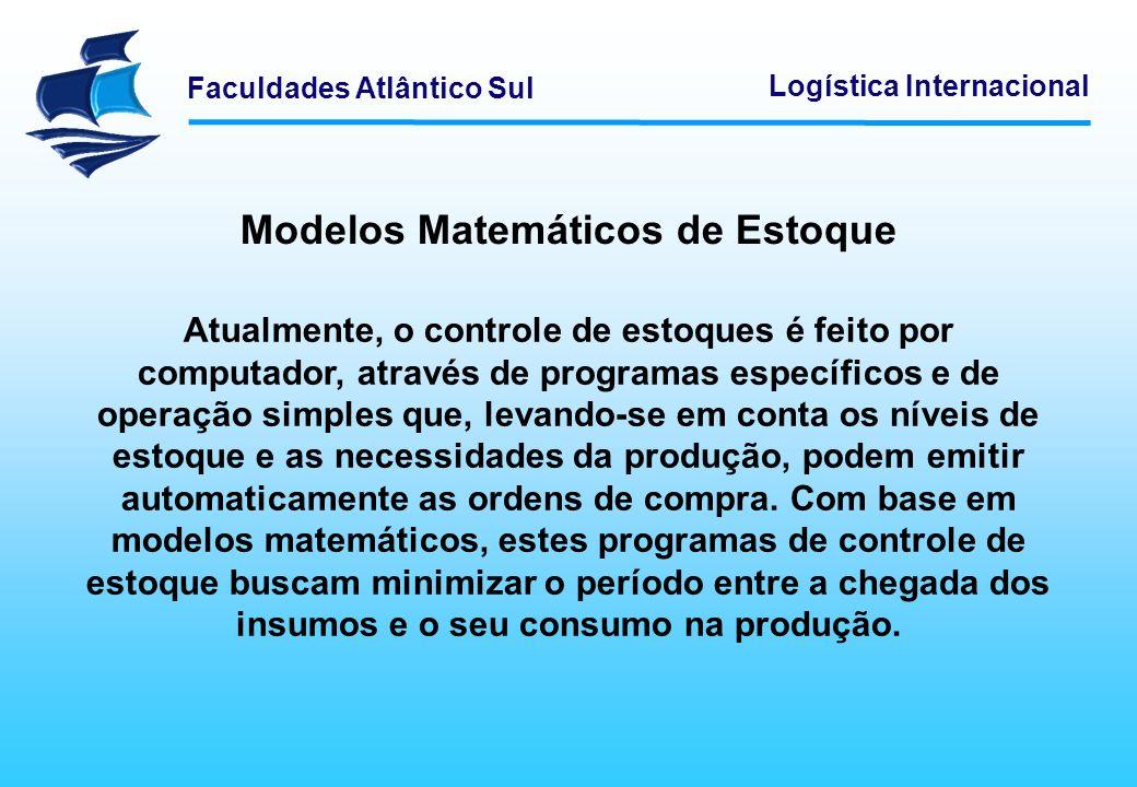 Modelos Matemáticos de Estoque