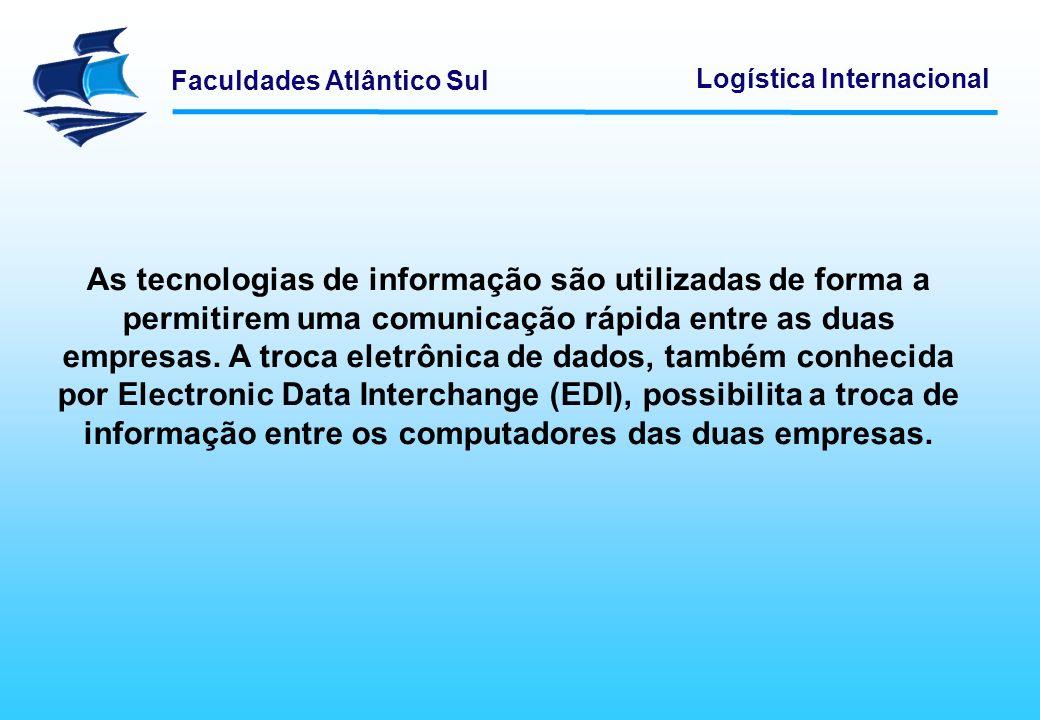 As tecnologias de informação são utilizadas de forma a permitirem uma comunicação rápida entre as duas empresas. A troca eletrônica de dados, também conhecida por Electronic Data Interchange (EDI), possibilita a troca de informação entre os computadores das duas empresas.