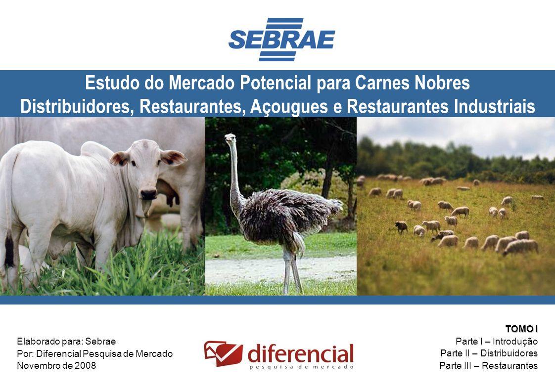 Estudo do Mercado Potencial para Carnes Nobres Distribuidores, Restaurantes, Açougues e Restaurantes Industriais