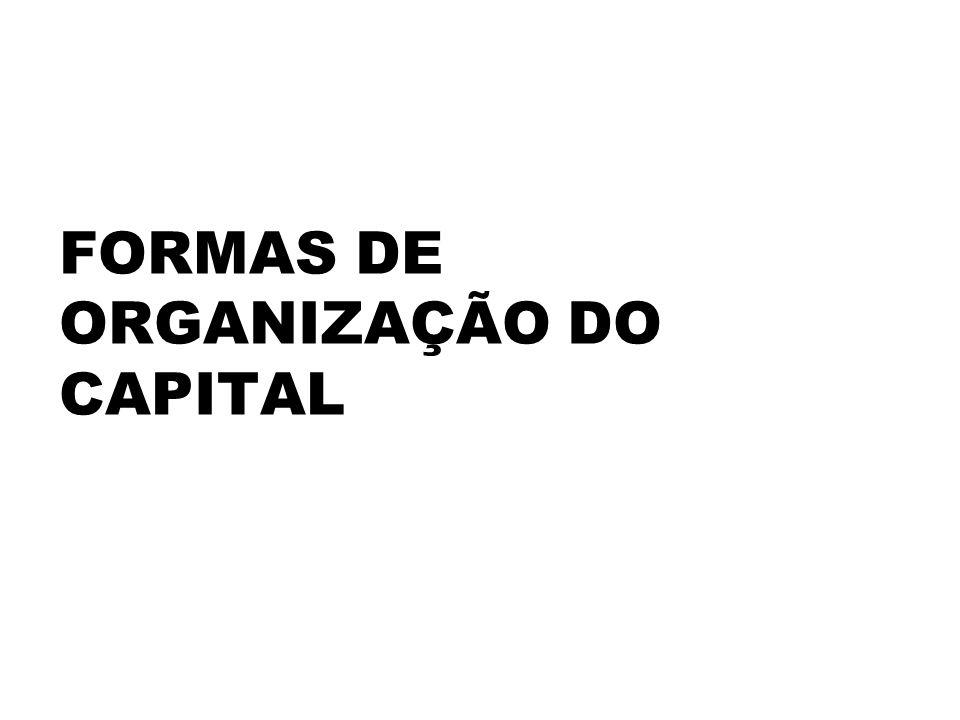 FORMAS DE ORGANIZAÇÃO DO CAPITAL