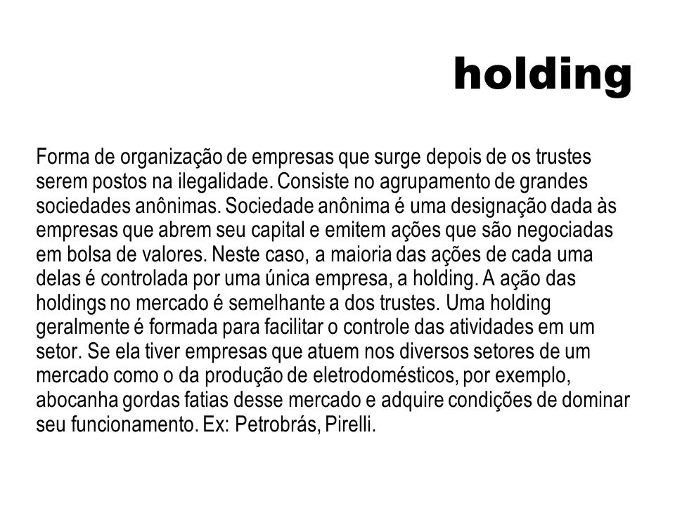 holding