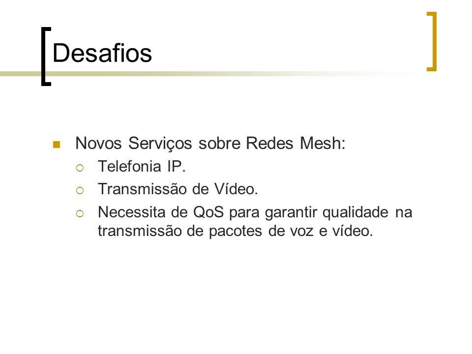 Desafios Novos Serviços sobre Redes Mesh: Telefonia IP.