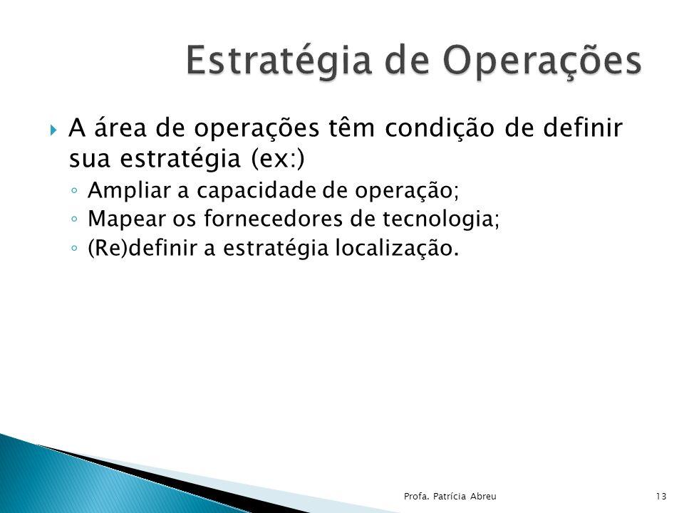 Estratégia de Operações