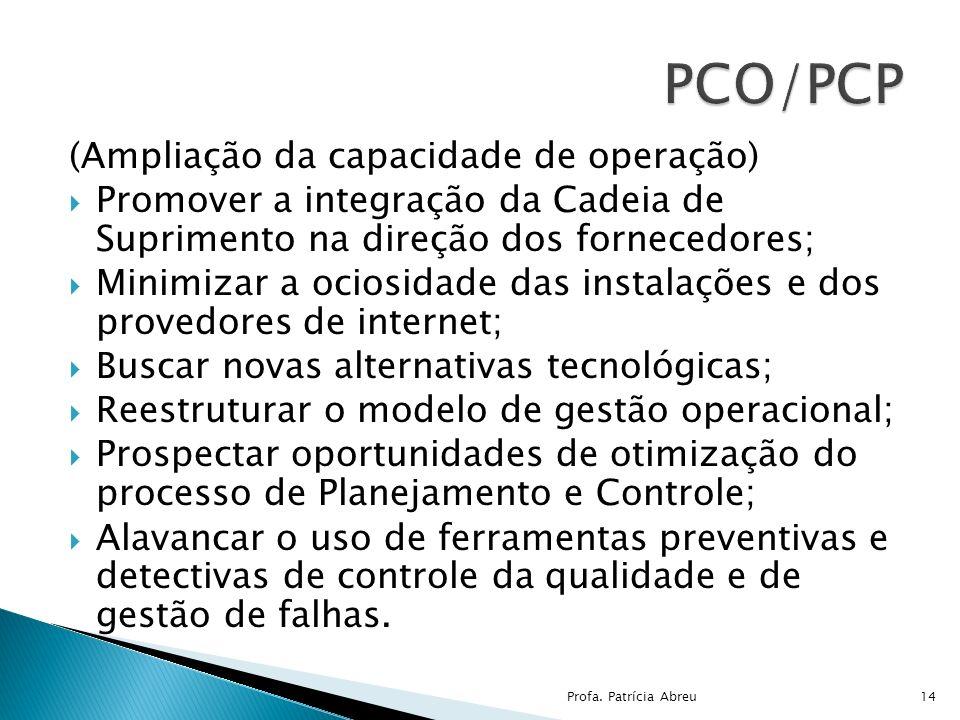 PCO/PCP (Ampliação da capacidade de operação)