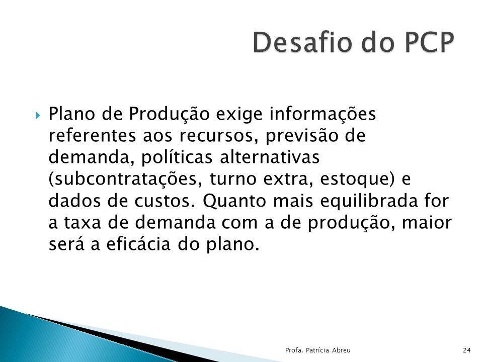 Desafio do PCP