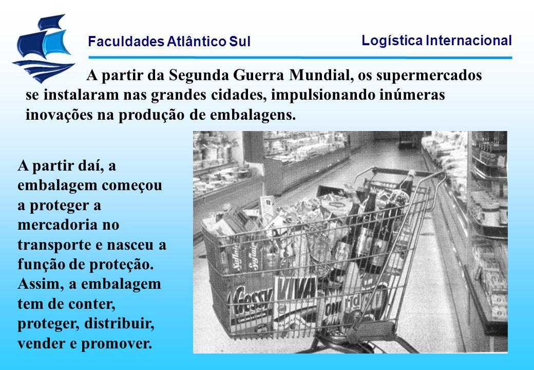 A partir da Segunda Guerra Mundial, os supermercados se instalaram nas grandes cidades, impulsionando inúmeras inovações na produção de embalagens.