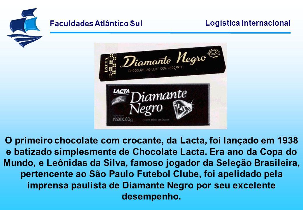 O primeiro chocolate com crocante, da Lacta, foi lançado em 1938 e batizado simplesmente de Chocolate Lacta.