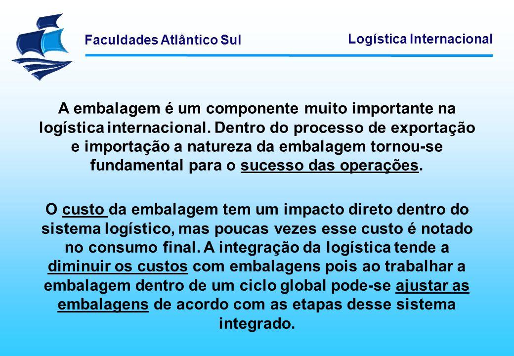 A embalagem é um componente muito importante na logística internacional. Dentro do processo de exportação e importação a natureza da embalagem tornou-se fundamental para o sucesso das operações.