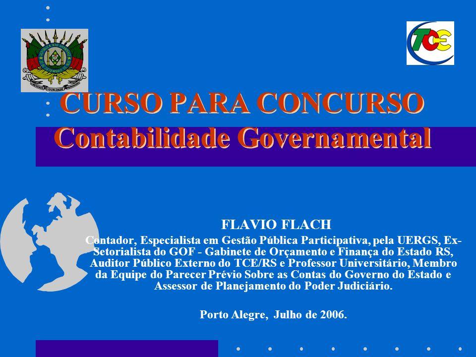 CURSO PARA CONCURSO Contabilidade Governamental