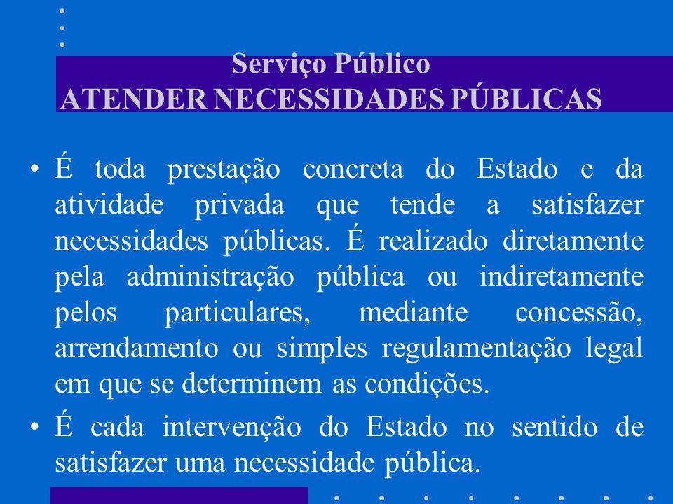 Serviço Público ATENDER NECESSIDADES PÚBLICAS