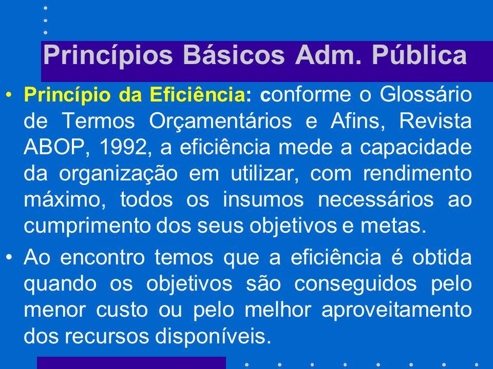 Princípios Básicos Adm. Pública
