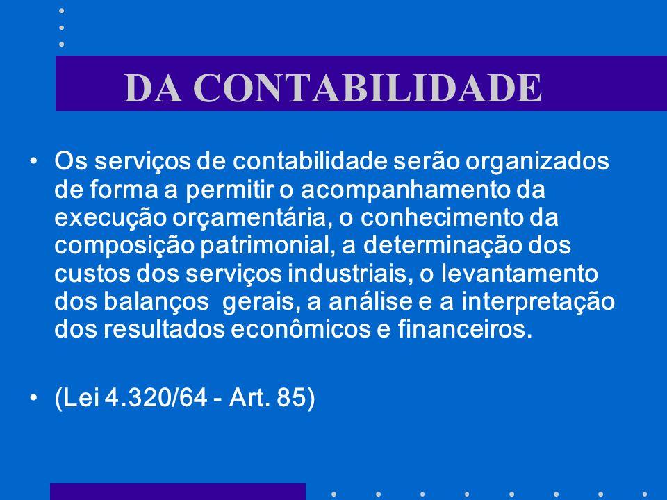 DA CONTABILIDADE