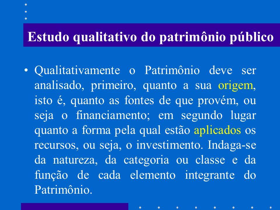 Estudo qualitativo do patrimônio público