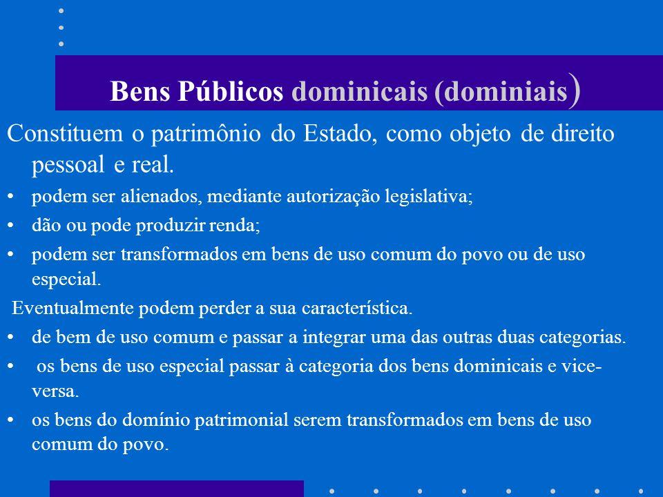 Bens Públicos dominicais (dominiais)