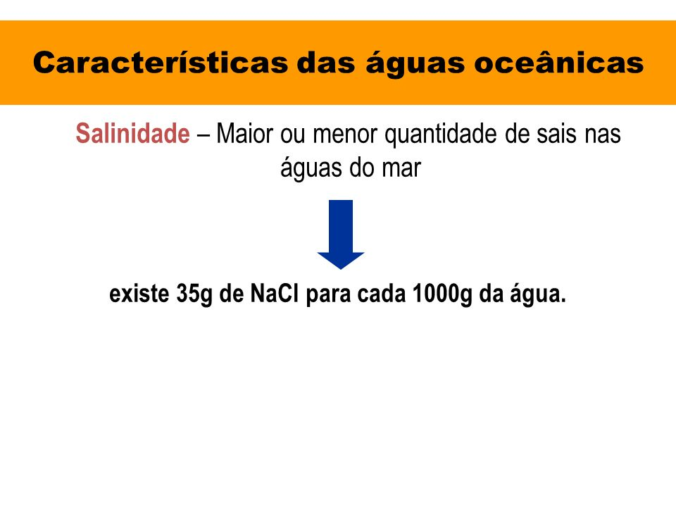 Características das águas oceânicas