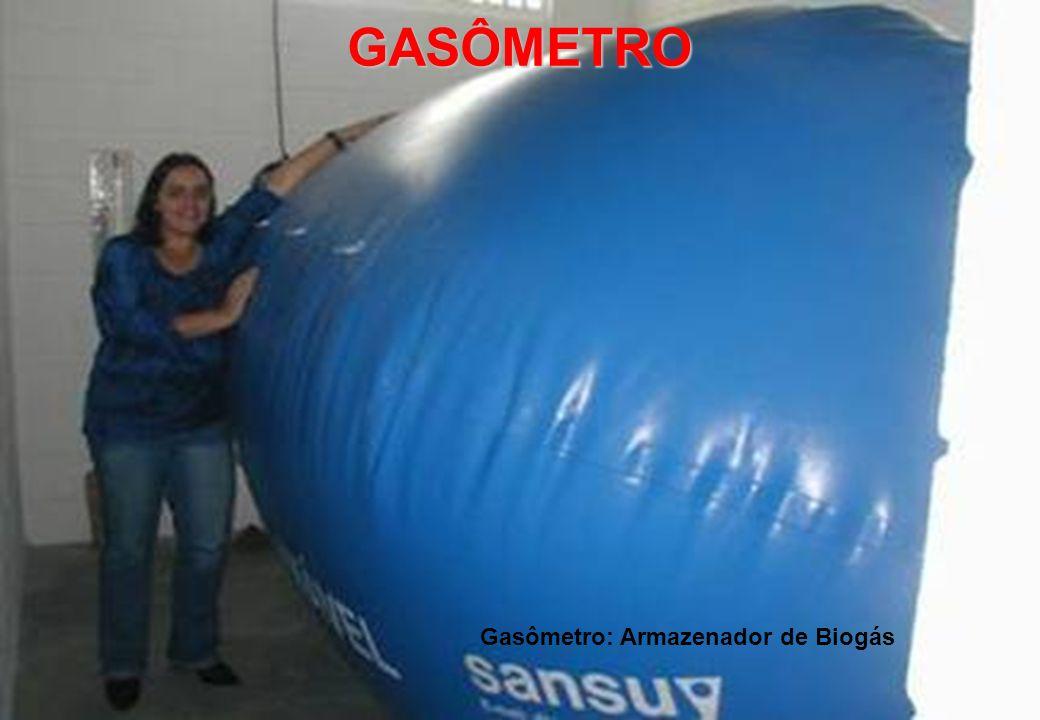 Gasômetro: Armazenador de Biogás
