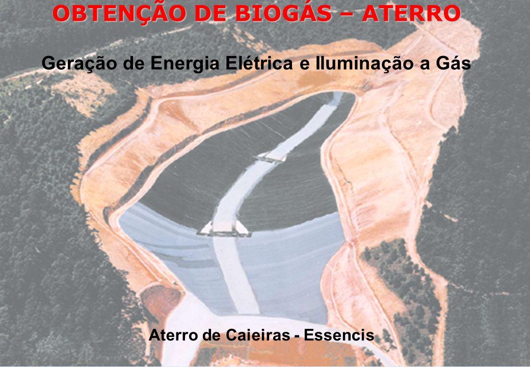 OBTENÇÃO DE BIOGÁS – ATERRO Aterro de Caieiras - Essencis