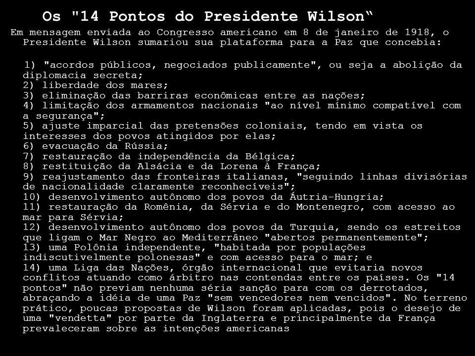 Os 14 Pontos do Presidente Wilson