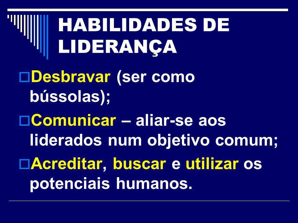 HABILIDADES DE LIDERANÇA