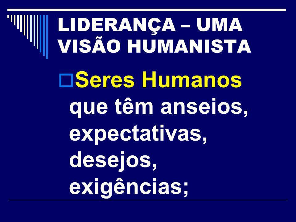 LIDERANÇA – UMA VISÃO HUMANISTA