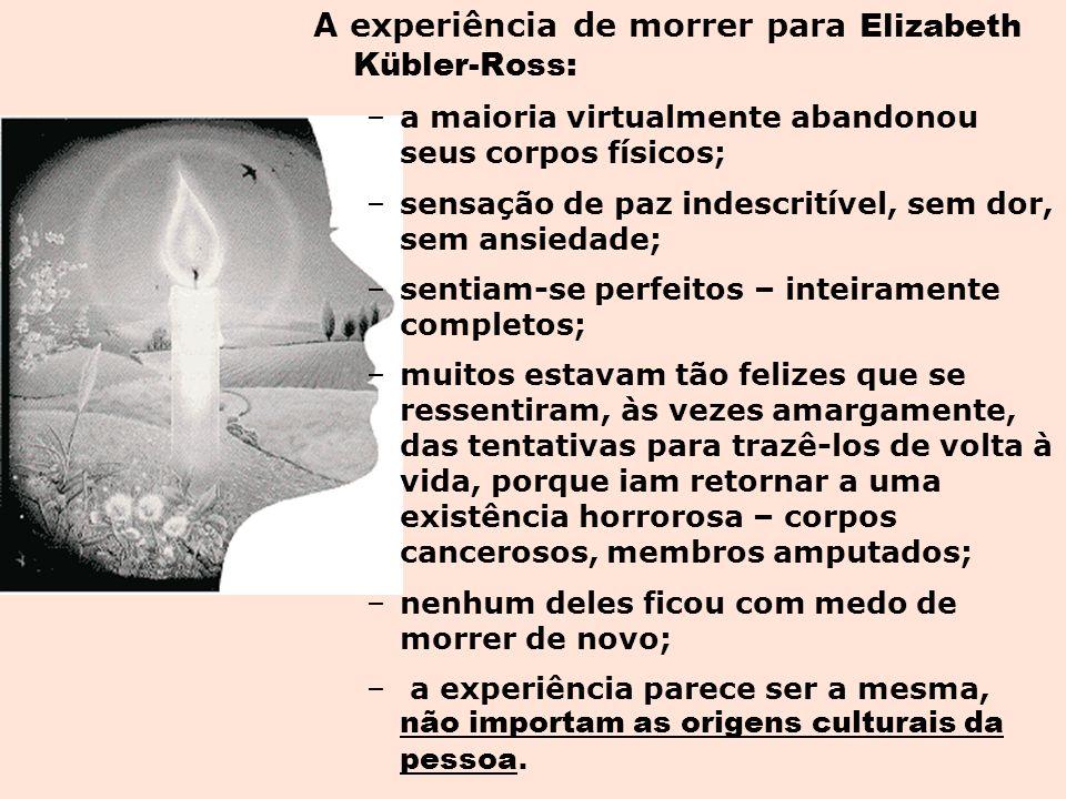 A experiência de morrer para Elizabeth Kübler-Ross: