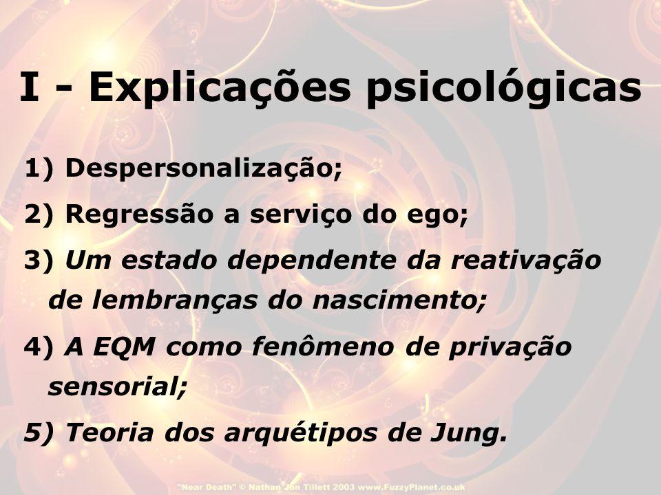 I - Explicações psicológicas