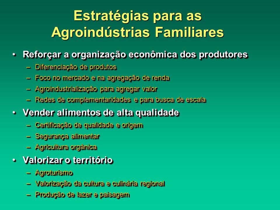 Estratégias para as Agroindústrias Familiares