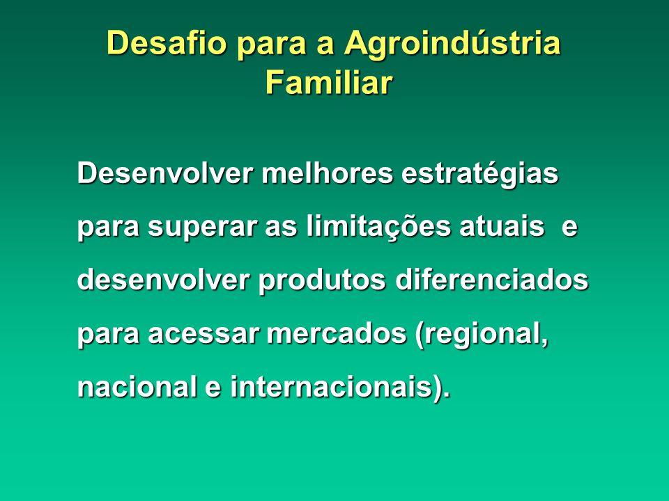 Desafio para a Agroindústria Familiar