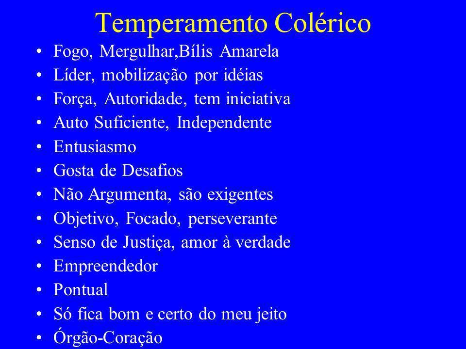Temperamento Colérico