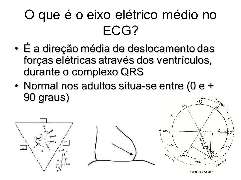 O que é o eixo elétrico médio no ECG