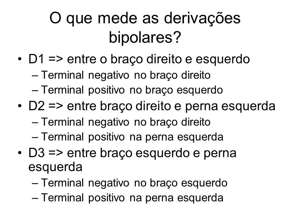 O que mede as derivações bipolares