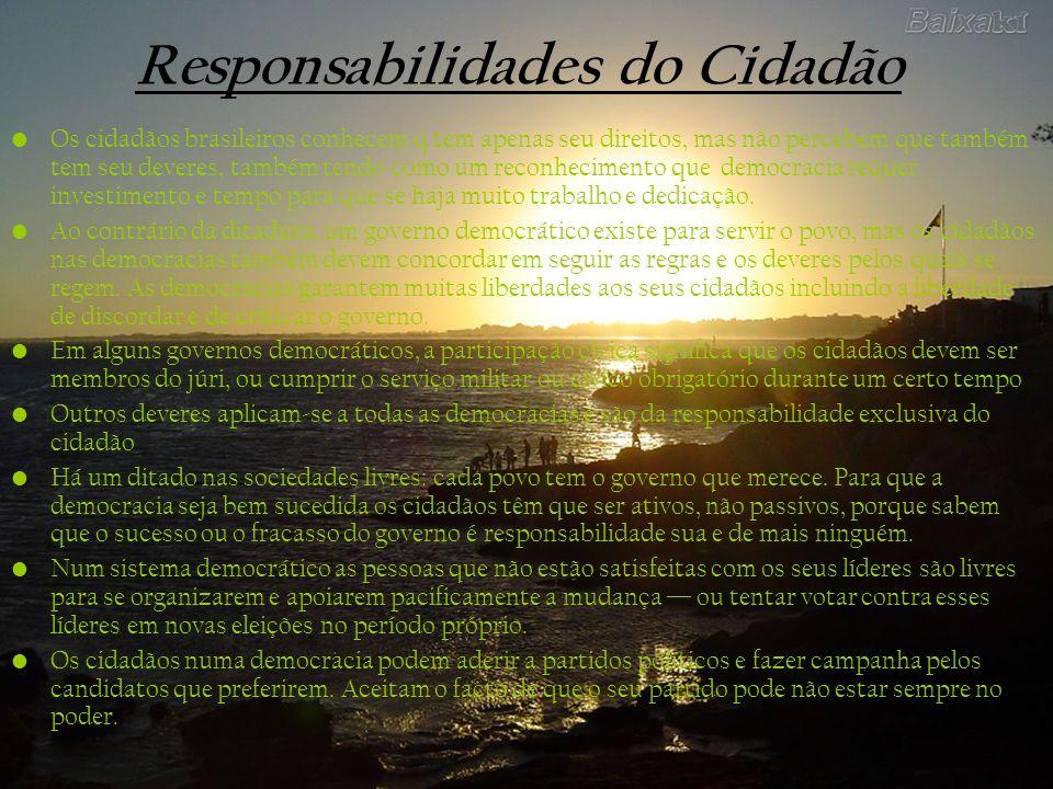 Responsabilidades do Cidadão