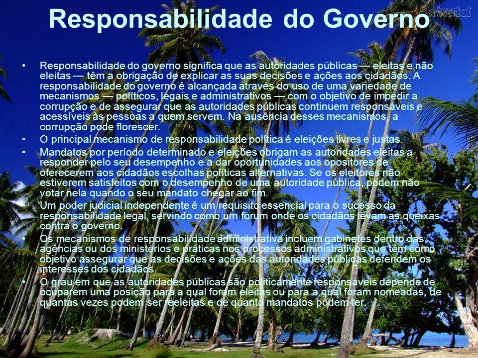 Responsabilidade do Governo