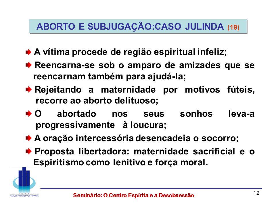 ABORTO E SUBJUGAÇÃO:CASO JULINDA (19)