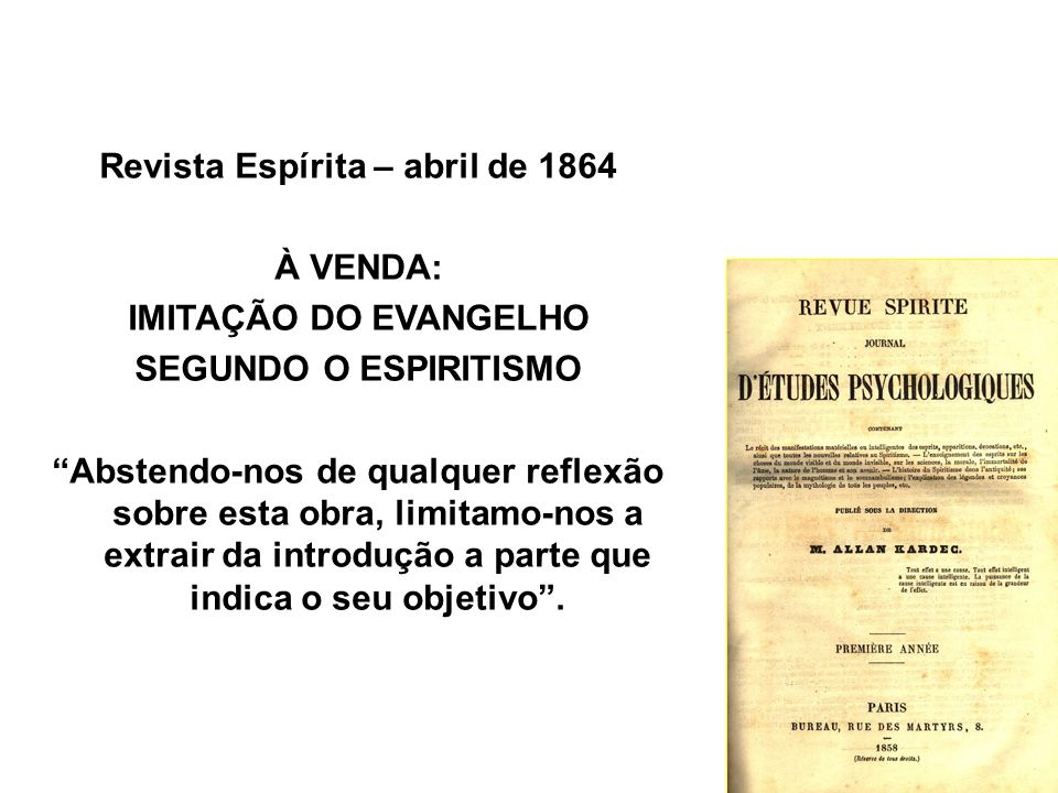 Revista Espírita – abril de 1864
