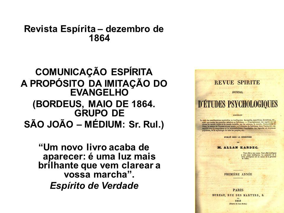 Revista Espírita – dezembro de 1864