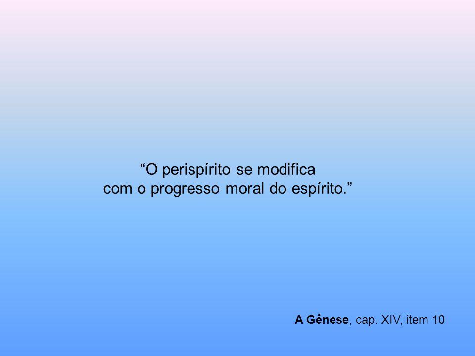O perispírito se modifica com o progresso moral do espírito.