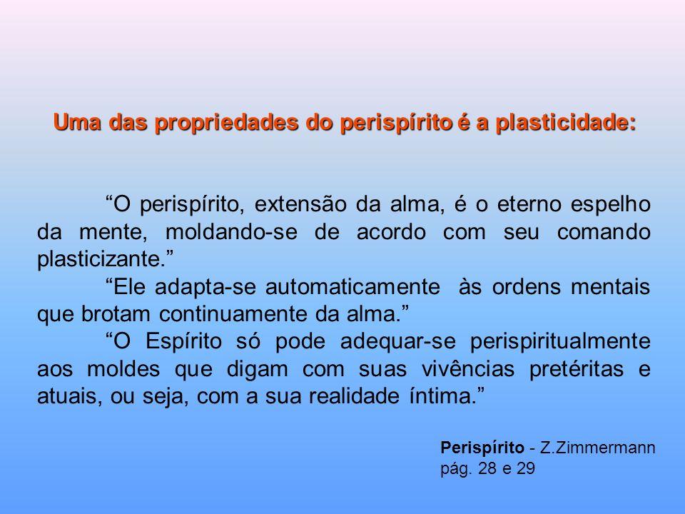 Uma das propriedades do perispírito é a plasticidade: