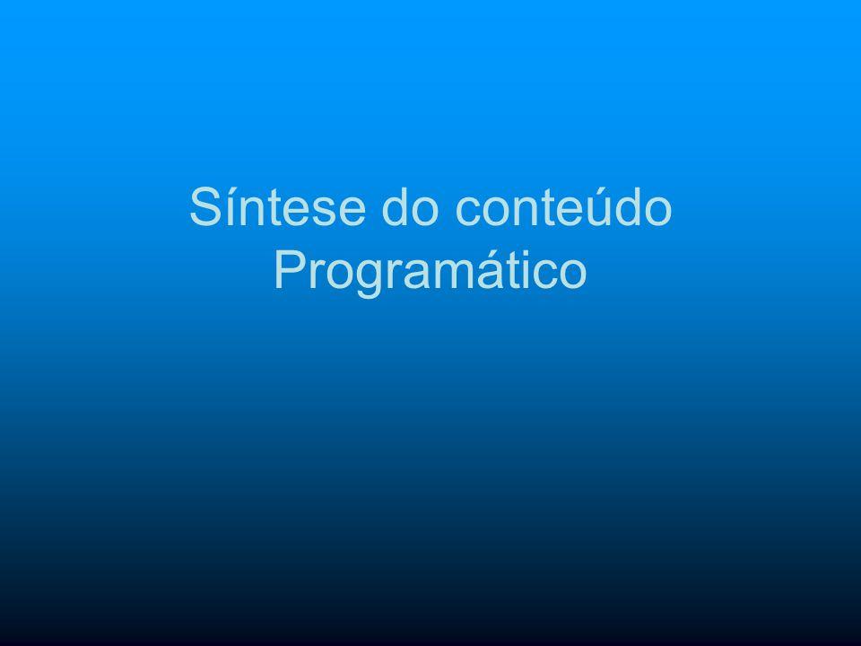 Síntese do conteúdo Programático