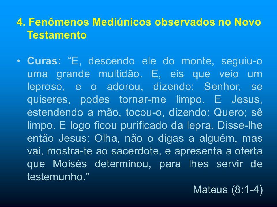 4. Fenômenos Mediúnicos observados no Novo Testamento
