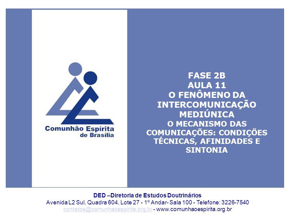 FASE 2B AULA 11 O FENÔMENO DA INTERCOMUNICAÇÃO MEDIÚNICA