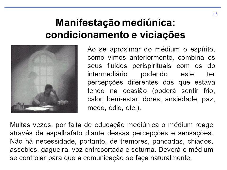 Manifestação mediúnica: condicionamento e viciações