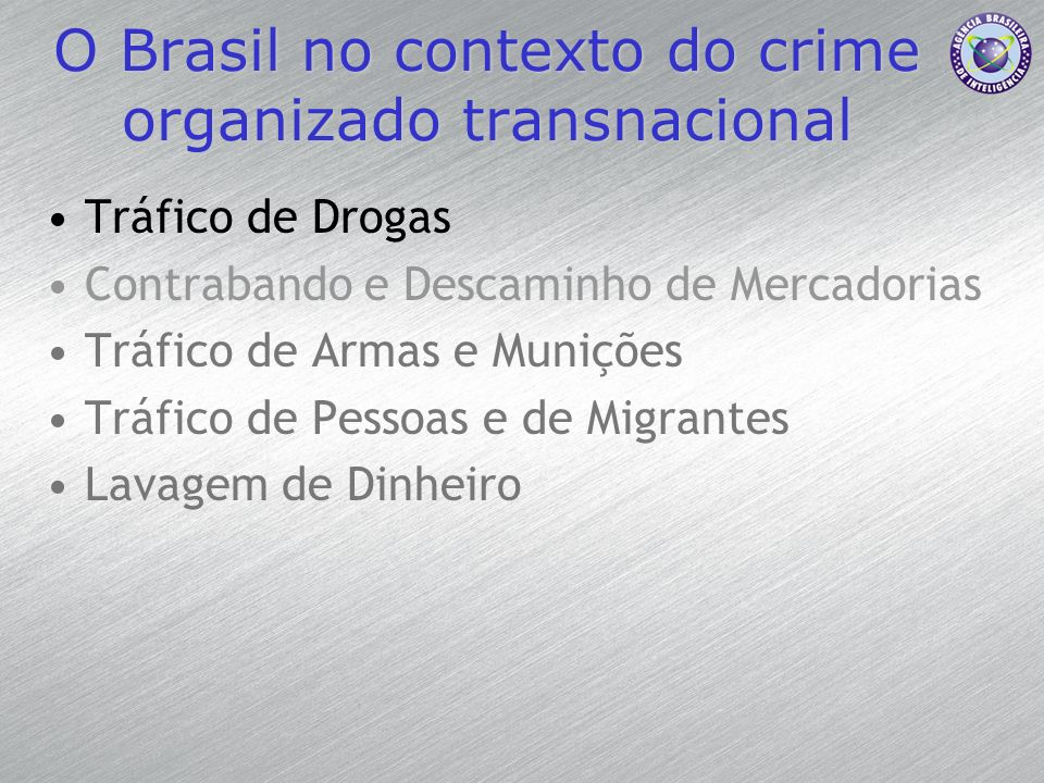 O Brasil no contexto do crime organizado transnacional