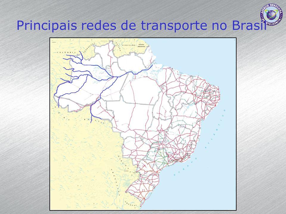 Principais redes de transporte no Brasil
