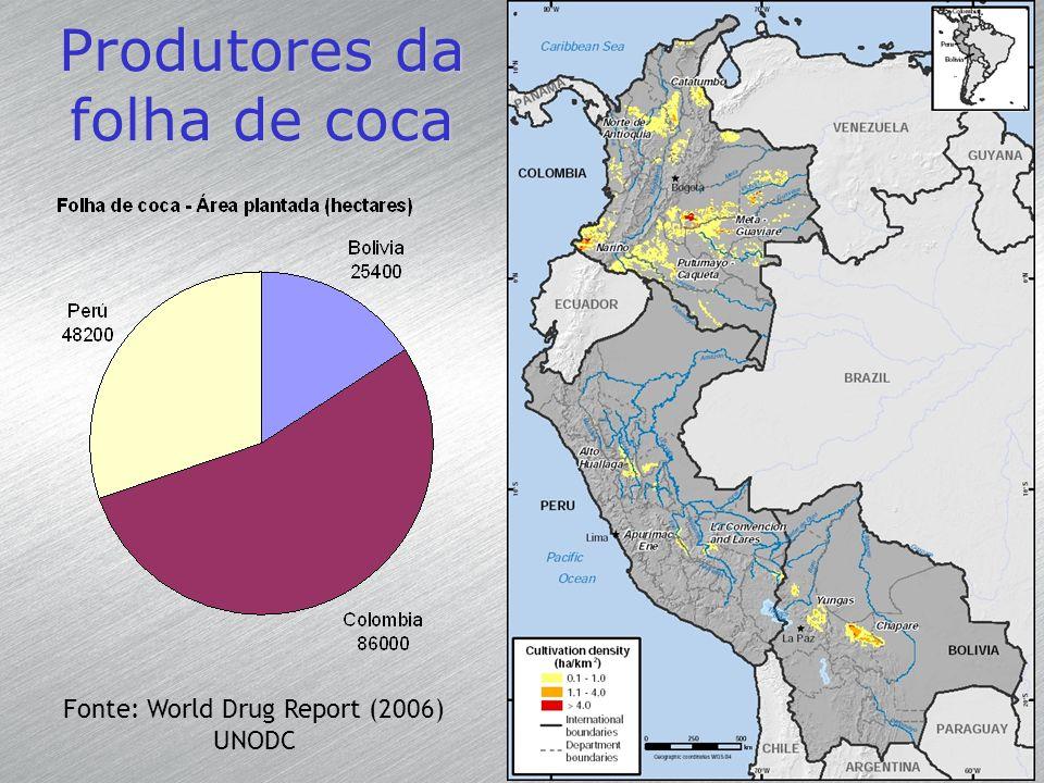 Produtores da folha de coca